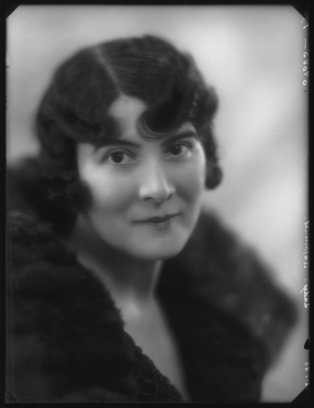 Kathleen (née Mason), Lady Aspinall, by Bassano Ltd, 12 January 1928 - NPG x124158 - © National Portrait Gallery, London