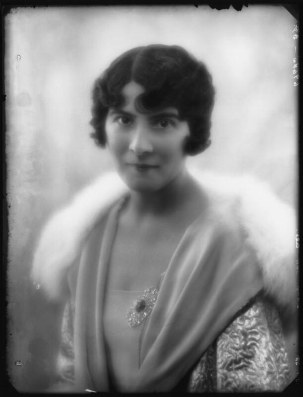 Kathleen (née Mason), Lady Aspinall, by Bassano Ltd, 12 January 1928 - NPG x124159 - © National Portrait Gallery, London