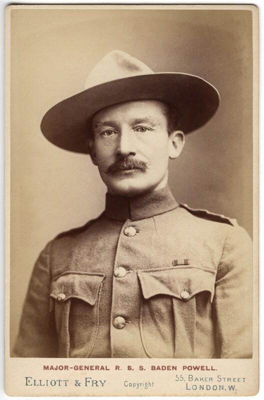 Robert Baden-Powell, by Francis Henry Hart, for  Elliott & Fry, 1896 - NPG x39330 - © National Portrait Gallery, London