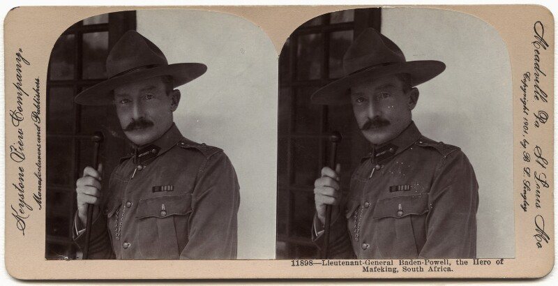 Robert Baden-Powell, by B.L. Lingley, published by  Keystone View Company, 1901 - NPG x26378 - © National Portrait Gallery, London