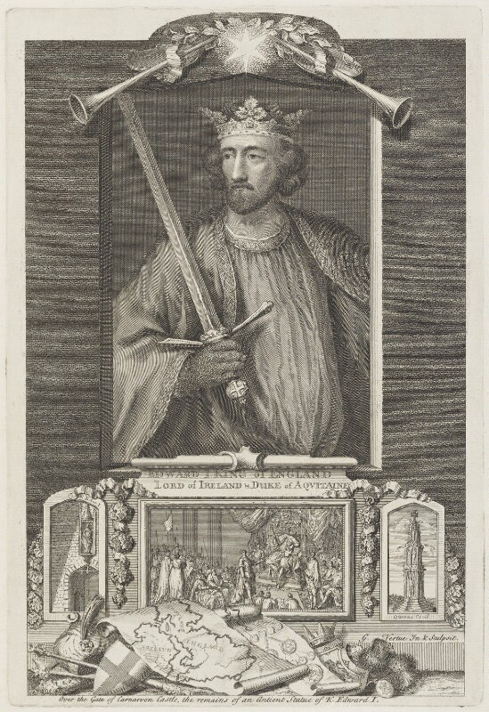 King Edward I, by George Vertue, engraved 1734 - NPG D18890 - © National Portrait Gallery, London
