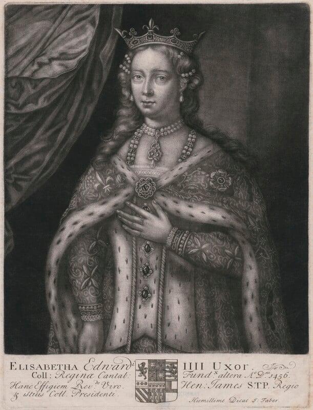 Elizabeth Woodville, by John Faber Sr, late 17th or early 18th century - NPG D16278 - © National Portrait Gallery, London
