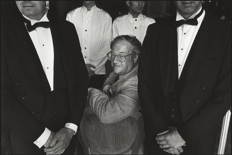 John Mortimer, by Barry Marsden, 1989 - NPG x39367 - © Barry Marsden