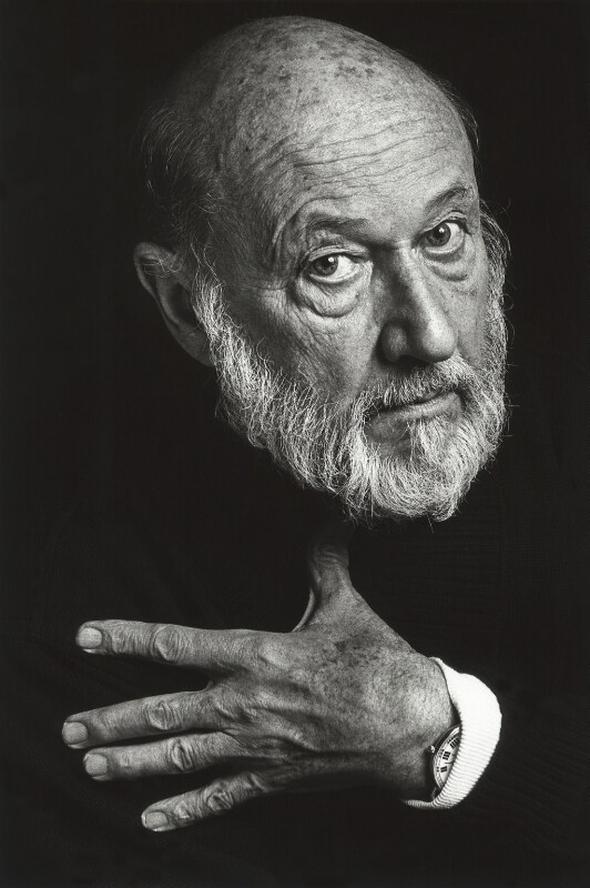 Donald Pleasence, by Barry Marsden, 1991 - NPG x39368 - © Barry Marsden