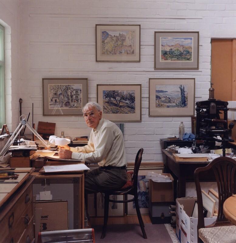 Edgar Holloway, by Bernard Mitchell, 1996 - NPG x77053 - © Bernard Mitchell