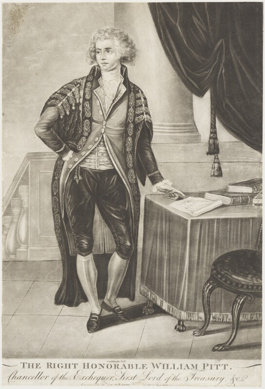 William Pitt, published by Robert Sayer, after  Isaac Cruikshank, published 20 February 1790 (1789-1790) - NPG D18920 - © National Portrait Gallery, London
