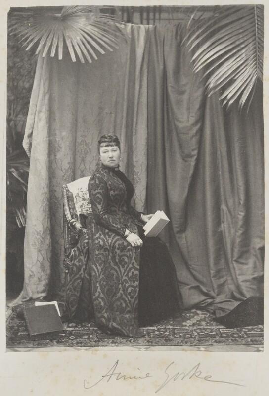 Annie Yorke (née de Rothschild), by Cyril Flower, 1st Baron Battersea, early 1890s - NPG Ax15602 - © National Portrait Gallery, London