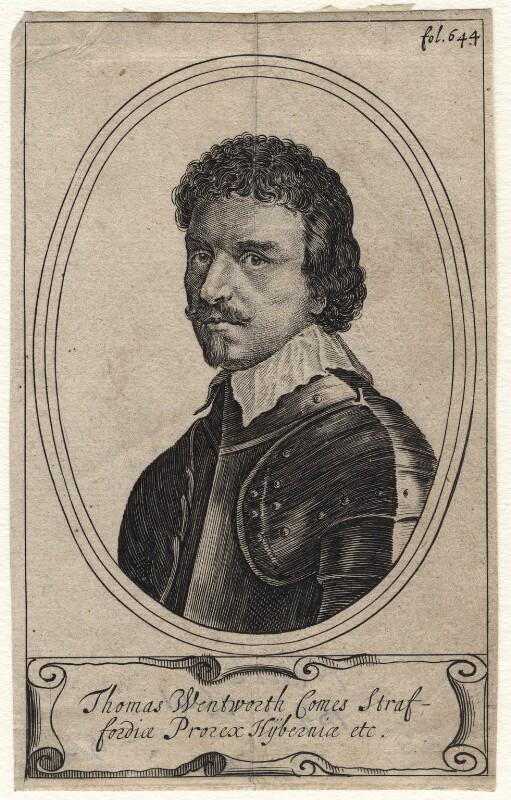Thomas Wentworth, 1st Earl of Strafford, after Sir Anthony van Dyck, (circa 1636) - NPG D16308 - © National Portrait Gallery, London