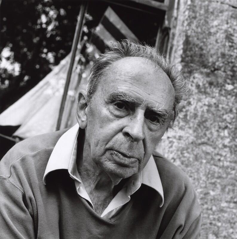 Ian Hamilton Finlay, by Norman McBeath, 15 July 2003 - NPG x126405 - © Norman McBeath / National Portrait Gallery, London