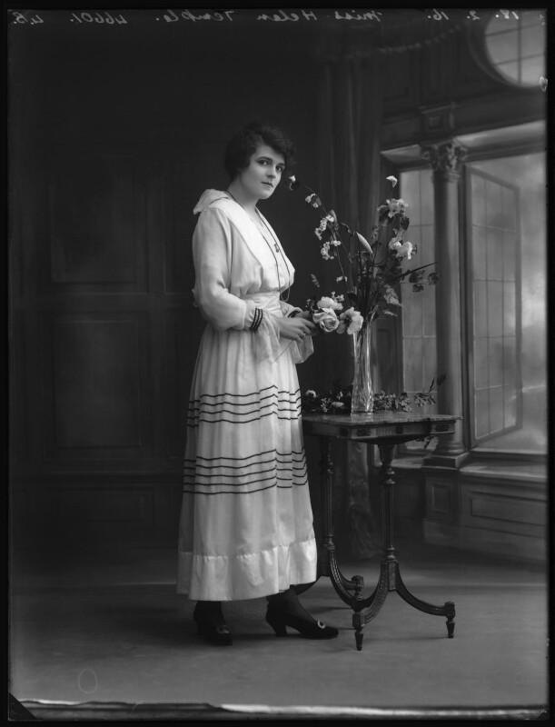 Helen Temple, by Bassano Ltd, 18 February 1916 - NPG x102608 - © National Portrait Gallery, London