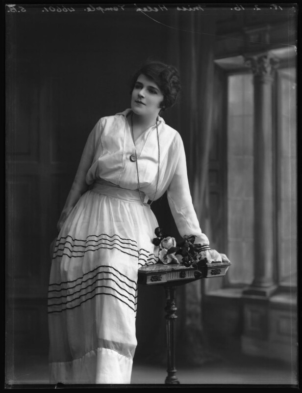 Helen Temple, by Bassano Ltd, 18 February 1916 - NPG x102609 - © National Portrait Gallery, London