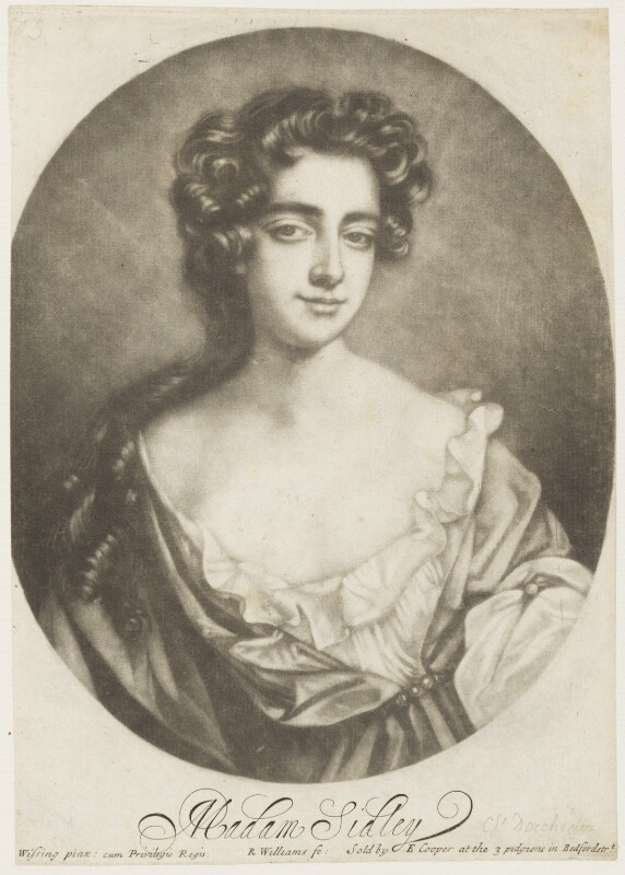 Catherine Sedley, Countess of Dorchester, by Robert Williams, published by  Edward Cooper, after  Willem Wissing, late 17th century - NPG D18998 - © National Portrait Gallery, London