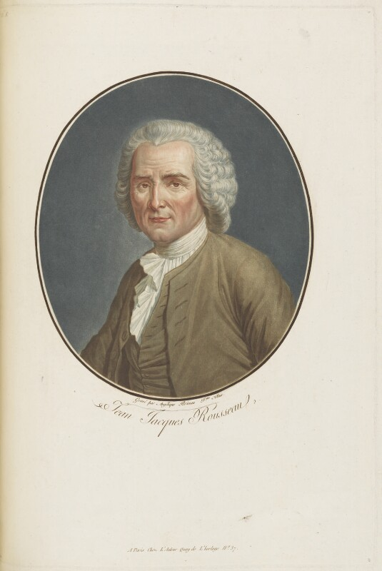 Jean Jacques Rousseau, by and published by Angelique Allais, late 18th century - NPG D19002 - © National Portrait Gallery, London