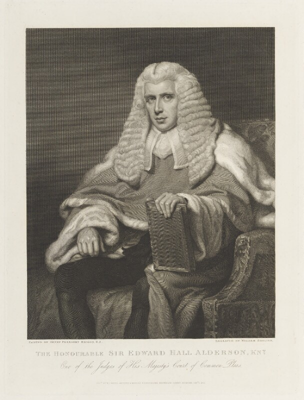 Sir Edward Hall Alderson, by William Skelton, published by  William Johnstone White, after  Henry Perronet Briggs, published 1 September 1832 - NPG D19073 - © National Portrait Gallery, London