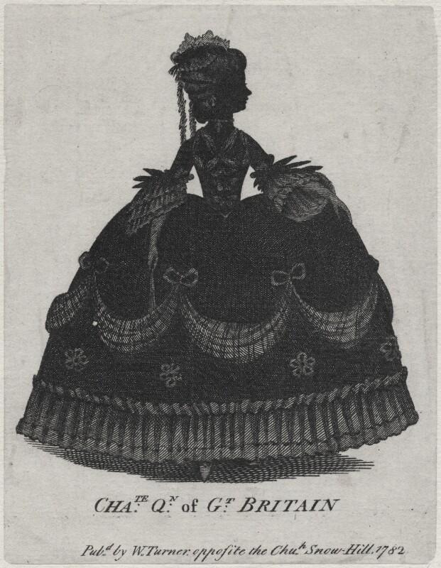 Charlotte of Mecklenburg-Strelitz, after Unknown artist, published 1782 - NPG D16350 - © National Portrait Gallery, London