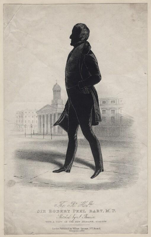 Sir Robert Peel, 2nd Bt, printed by Lefevre & Kohler, published by  William Spooner, after  Joseph Bouvier, 1830s-1840s - NPG D16352 - © National Portrait Gallery, London