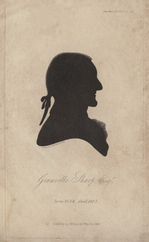 Granville Sharp, by Barak Longmate, published by  John Nichols, possibly after  John Miers, published 30 December 1818 - NPG D16371 - © National Portrait Gallery, London