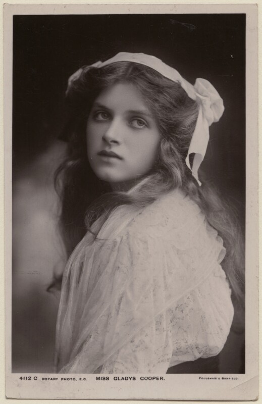 Dame Gladys Cooper, by Foulsham & Banfield, published by  Rotary Photographic Co Ltd, late 1900s - NPG x126415 - © National Portrait Gallery, London