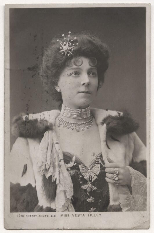 Vesta Tilley, published by Rotary Photographic Co Ltd, late 1900s - NPG x126416 - © National Portrait Gallery, London