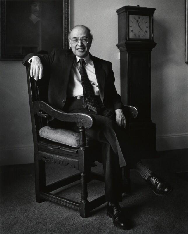 Sir Michael Francis Atiyah, by Anne-Katrin Purkiss, March 1991 - NPG x36181 - © National Portrait Gallery, London