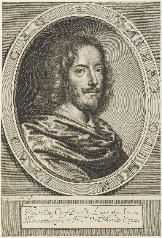 Henry Carey, 2nd Earl of Monmouth, by William Faithorne, published 1656 - NPG D19122 - © National Portrait Gallery, London