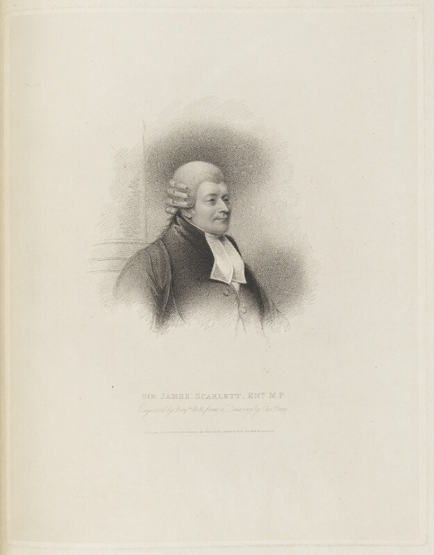 James Scarlett, 1st Baron Abinger, by Benjamin Holl, published by  Robert Cribb, after  Charles Penny, published 25 November 1824 - NPG D19188 - © National Portrait Gallery, London
