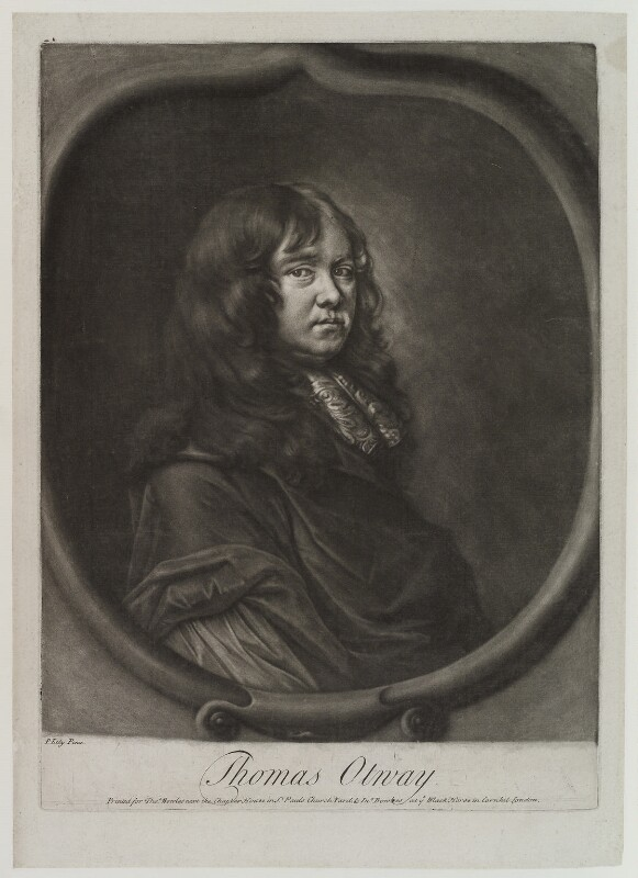 Thomas Otway, printed for Thomas Bowles Jr, and printed for  John Bowles, after  Sir Peter Lely, published circa 1750-1760 - NPG D19221 - © National Portrait Gallery, London
