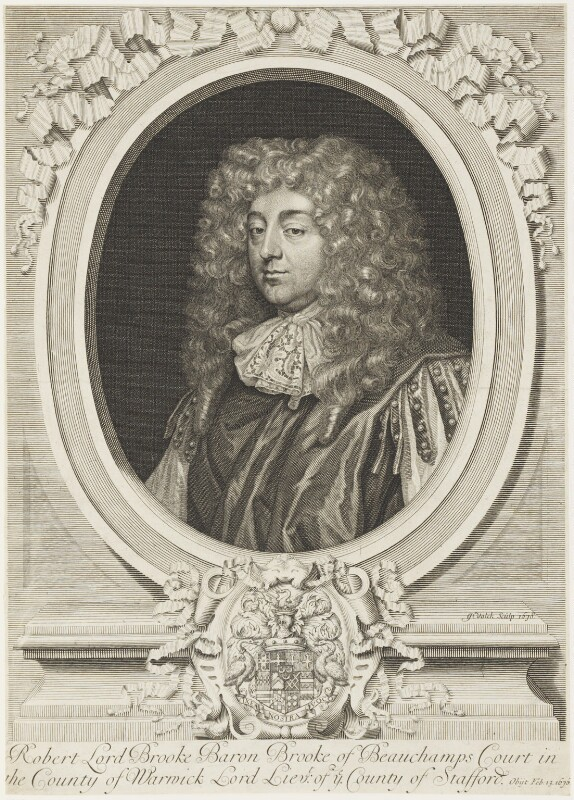 Robert Greville, 4th Baron Brooke of Beauchamps Court, by Gerard Valck, 1678 - NPG D19238 - © National Portrait Gallery, London