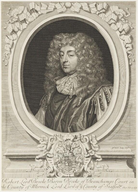Robert Greville, 4th Baron Brooke of Beauchamps Court, by Gerard Valck, 1678 - NPG D19238 - © National Portrait Gallery, London