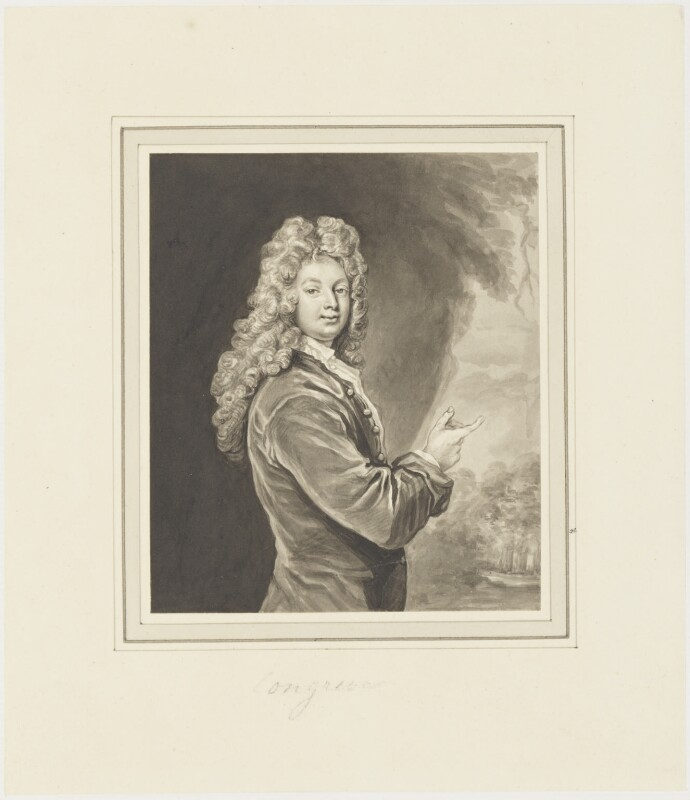 William Congreve, by George Perfect Harding, after  Sir Godfrey Kneller, Bt, (1709) - NPG D19240 - © National Portrait Gallery, London