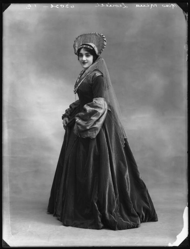 Mina Leonesi as Princess Mary in 'Bluff King Hal', by Bassano Ltd, 1914 - NPG x102972 - © National Portrait Gallery, London