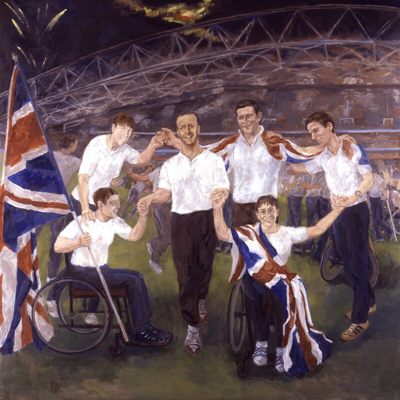 Six British Paralympic Athletes, by John Lessore, 2004 - NPG 6669 - © National Portrait Gallery, London