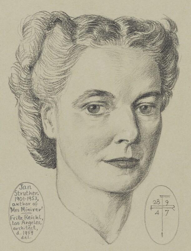 Jan Struther (Joyce Anstruther, later Placzek), by Fritz Reichl, 1947 - NPG 6665 - © National Portrait Gallery, London