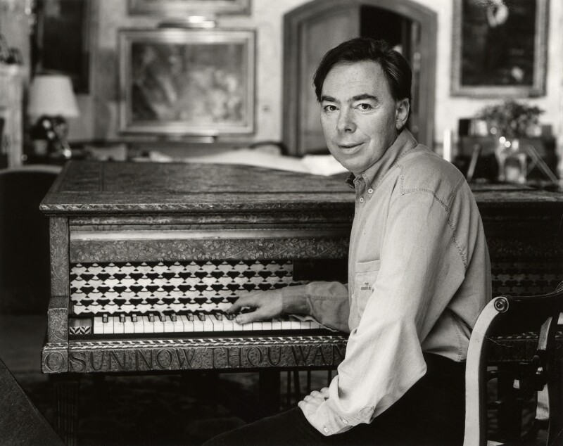 Andrew Lloyd Webber, Baron Lloyd Webber, by John Swannell, 7 October 1995 - NPG x76670 - © John Swannell / Camera Press