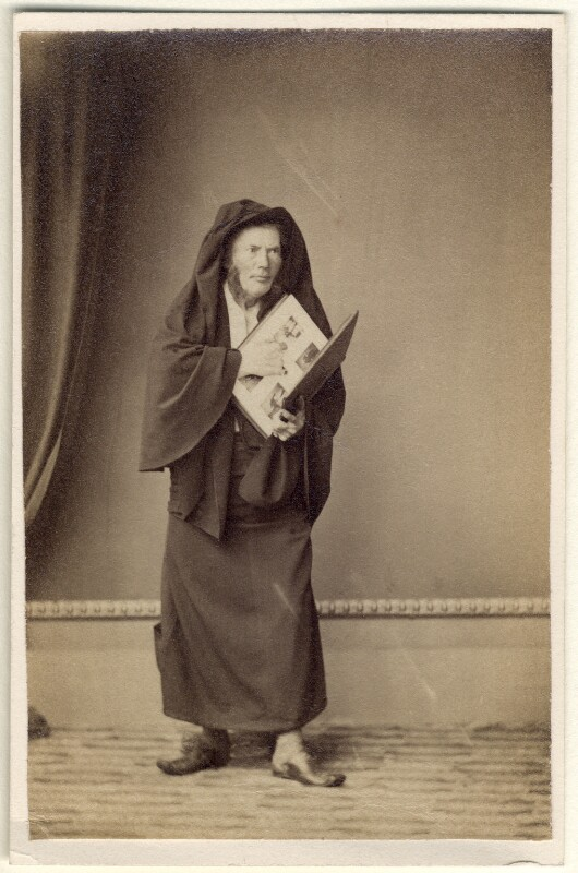 'As a Devotee of Art' (Richard Cockle Lucas), by Richard Cockle Lucas, circa 1858 - NPG Ax23434 - © National Portrait Gallery, London