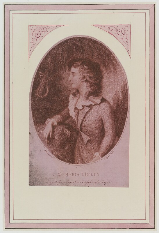 Maria Linley, by Thomas Ryder, published by  S. Watts, after  Richard Westall, published 1785 - NPG D19287 - © National Portrait Gallery, London