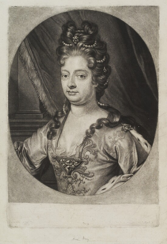 Queen Mary II, by Wallerant Vaillant, circa 1650-1675 - NPG D19321 - © National Portrait Gallery, London