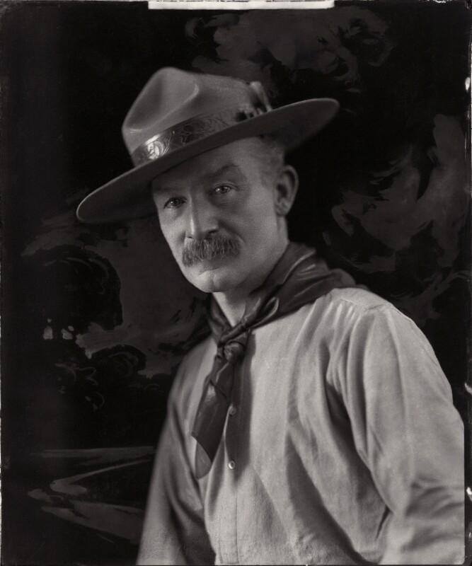 Robert Baden-Powell, by H. Walter Barnett, 1908 - NPG x126436 - © National Portrait Gallery, London