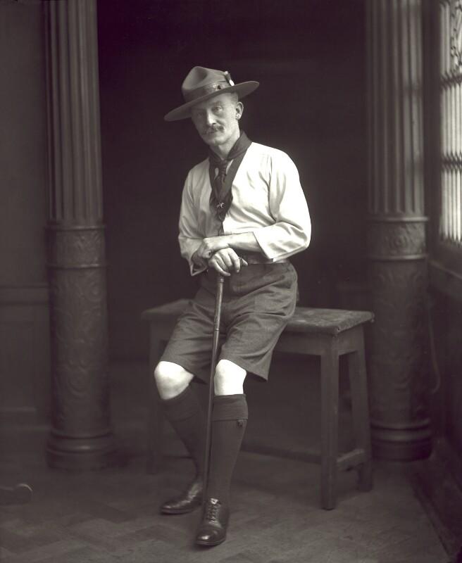 Robert Baden-Powell, by Henry Walter ('H. Walter') Barnett, 1908 - NPG x126437 - © National Portrait Gallery, London