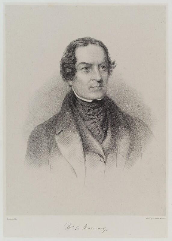 William Charles Macready, by Edward Morton, published by  Hullmandel & Walton, circa 1843-1850 - NPG D19335 - © National Portrait Gallery, London