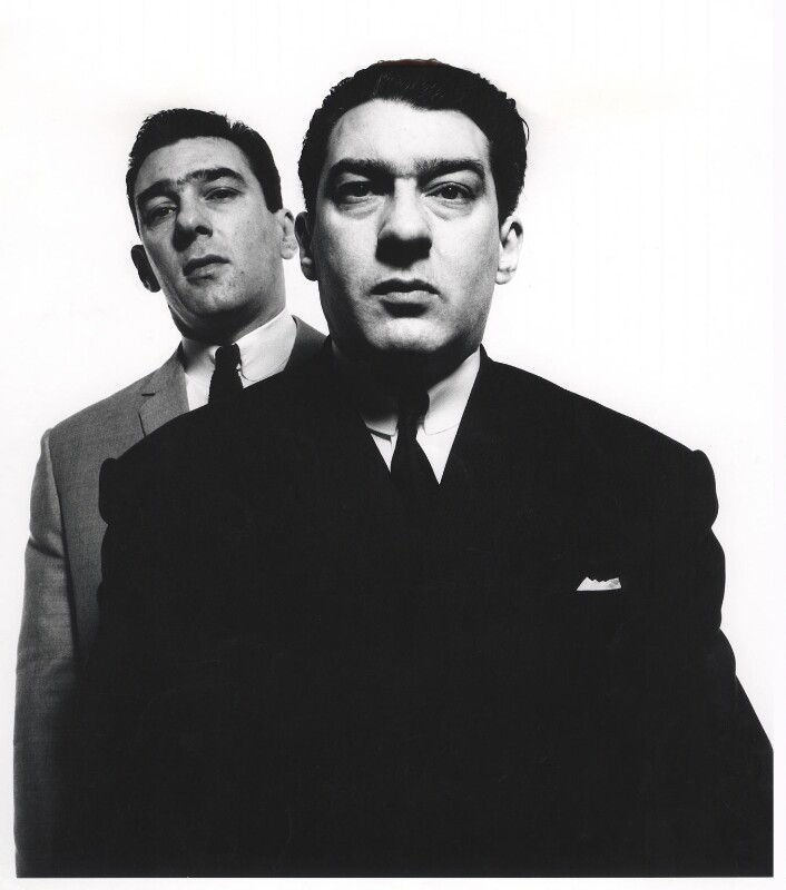 Reggie Kray; Ronnie Kray, by David Bailey, April 1965 - NPG x126466 - © David Bailey
