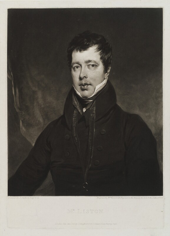 John Liston, by William Ward, published by  Colnaghi & Co, after  John Jackson, published 1 January 1821 - NPG D19354 - © National Portrait Gallery, London