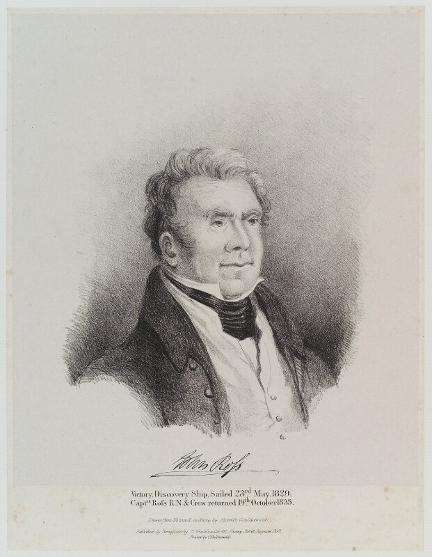 Sir John Ross, by Harriot or Harriet Arnold (née Gouldsmith), printed by  Charles Joseph Hullmandel, circa 1825-1850 - NPG D19367 - © National Portrait Gallery, London