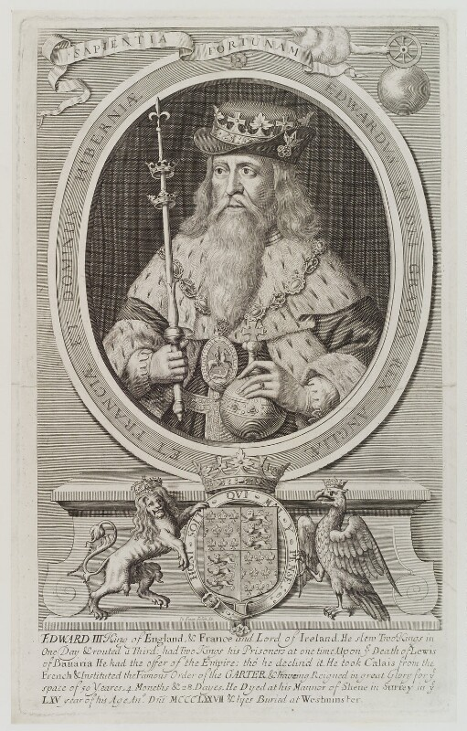 King Edward III, possibly by Robert Sheppard, published 1733? - NPG D19376 - © National Portrait Gallery, London