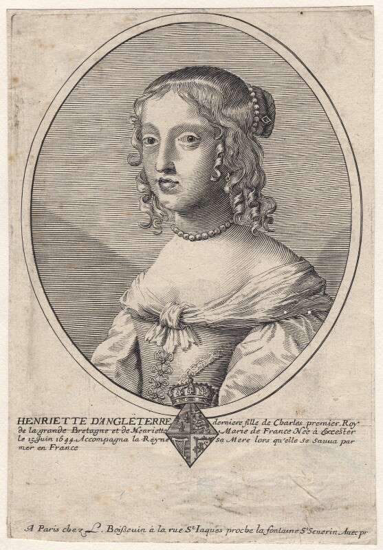 Henrietta Anne, Duchess of Orleans, after Claude Mellan, 1650s - NPG D16460 - © National Portrait Gallery, London