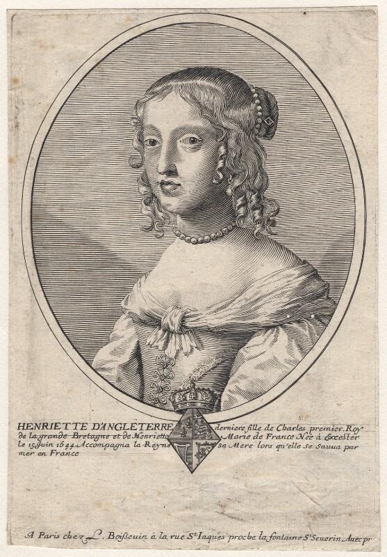 Henrietta Anne, Duchess of Orleans, after Claude Mellan, 1650s - NPG D16460 - © National Portrait Gallery, London