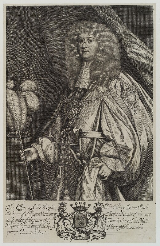 Henry Bennet, 1st Earl of Arlington, by Unknown artist, published 1679 - NPG D19384 - © National Portrait Gallery, London
