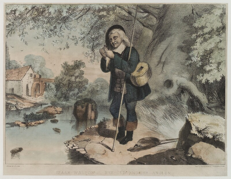 'Izaak Walton - the old English angler', by and published by Dean & Co, published circa 1849-1855 - NPG D19394 - © National Portrait Gallery, London