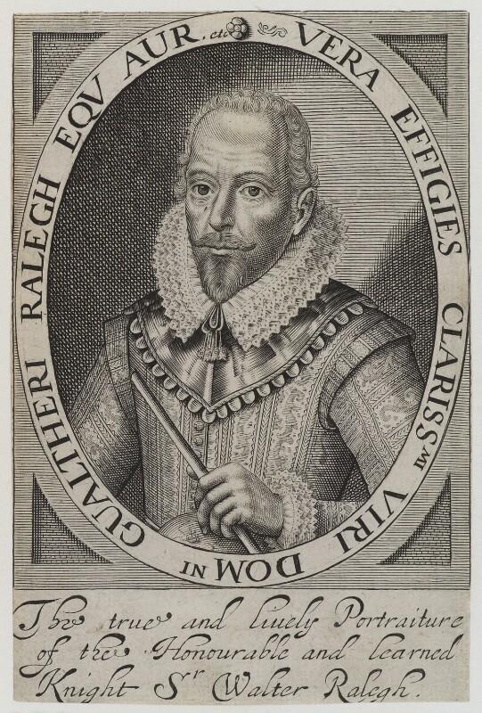 Sir Walter Ralegh (Raleigh), after Simon de Passe, (1617) - NPG D19398 - © National Portrait Gallery, London