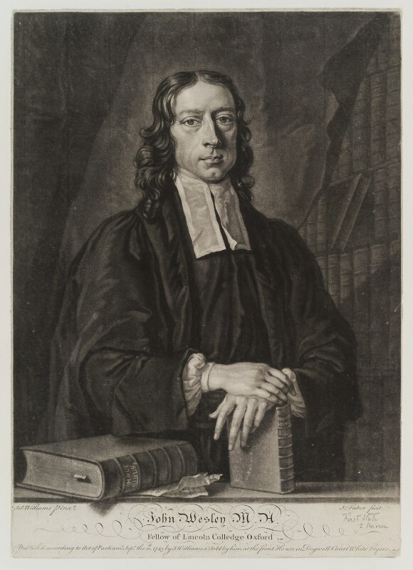 John Wesley, by John Faber Jr, published by and after  John Michael Williams, published 10 September 1743 - NPG D19399 - © National Portrait Gallery, London